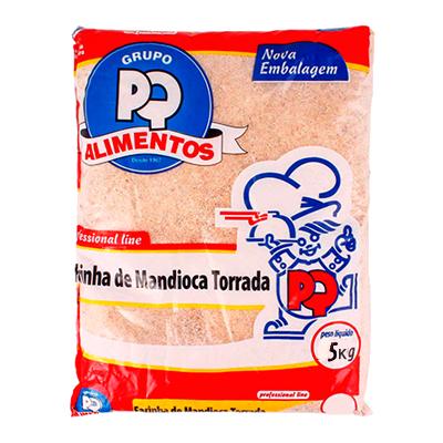 Farinha de mandioca torrada 5kg PQ Alimentos pacote PCT