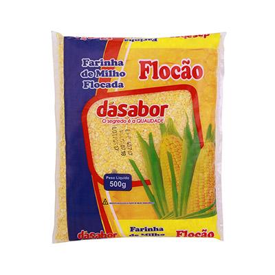 Farinha de milho flocada 500g DáSabor pacote PCT