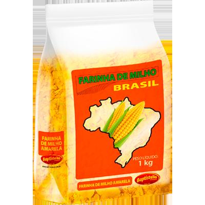 Farinha de milho  1kg Brasil/Baptistella pacote PCT