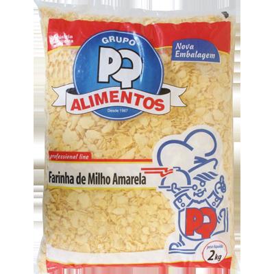 Farinha de milho  2kg PQ Alimentos pacote PCT