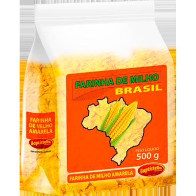 Farinha de milho  500g Brasil/Baptistella pacote PCT