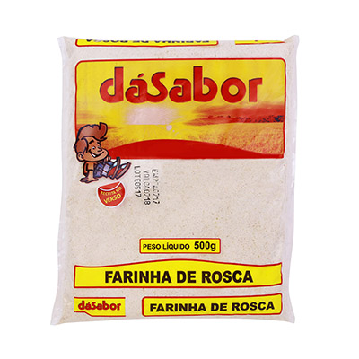 Farinha de Rosca  500g DáSabor pacote PCT