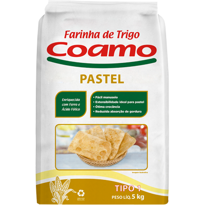 Farinha de trigo especial para pastel 5kg Coamo pacote PCT
