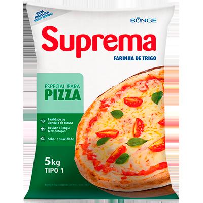Farinha de trigo especial para pizza 5kg Bunge pacote PCT