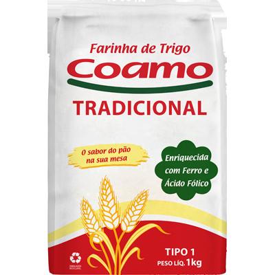 Farinha de trigo  1kg Coamo pacote PCT