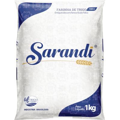 Farinha de trigo Tipo 1 1kg Sarandi pacote PCT