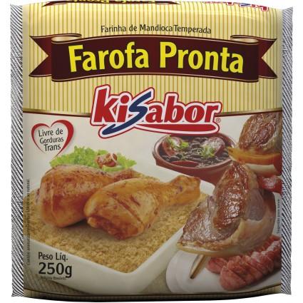 Farofa tradicional 250g KiSabor pacote PCT