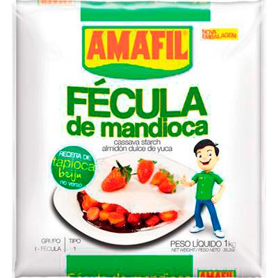 Fécula de mandioca por kg Amafil pacote KG