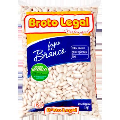 Feijão Branco  1kg Broto Legal pacote PCT