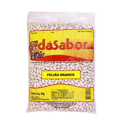 Feijão Branco  2kg DáSabor pacote PCT