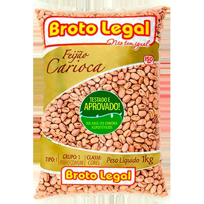 Feijão Carioca  1kg Broto Legal pacote PCT