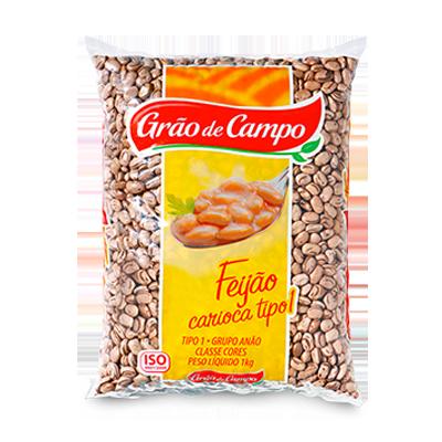 Feijão Carioca  1kg Grão do Campo pacote PCT