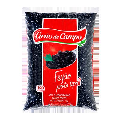 Feijão Preto  1kg Grão do Campo pacote PCT