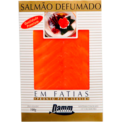 Filé de Salmão defumado fatiado (filés de 1 a 2kg) Damm á vácuo KG
