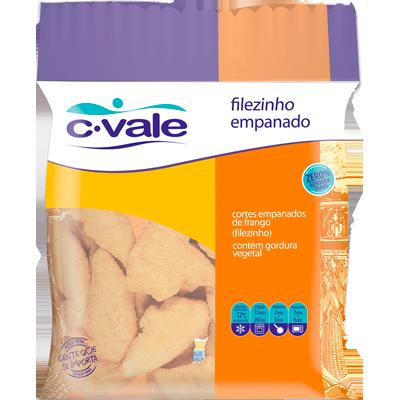 Filézinho de Frango empanado congelado por kg C. Vale  KG