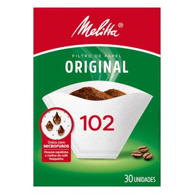 Filtro de café de papel n°102 30 unidades Melitta caixa UN