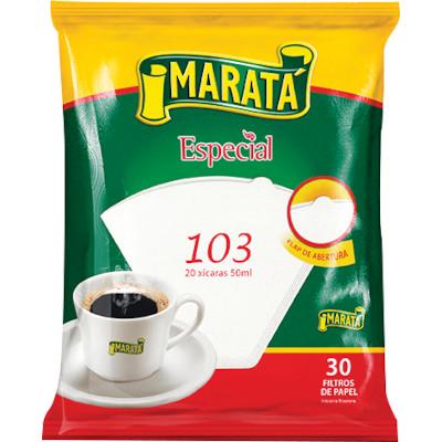 Filtro de café de Papel n°103 30 unidades Marata caixa UN