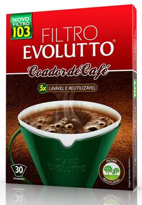 Filtro de café permanente n°103 30 unidades Evolutto caixa UN