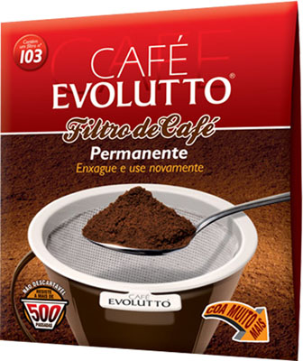Filtro de café permanente nº 103 01 unidade Evolutto caixa UN