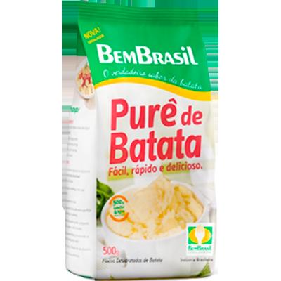 Flocos para purê de batata 500g Bem Brasil pacote PCT