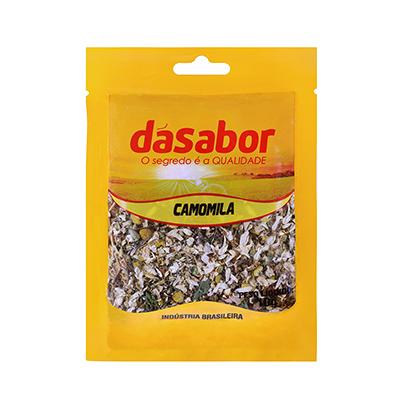 Flor de Camomila desidratada 10g DáSabor pacote PCT