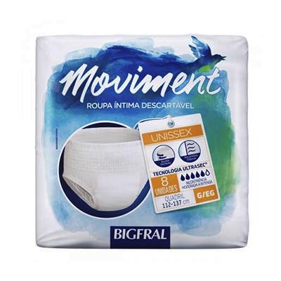 Fraldas Descartáveis geriátrica tamanho G 8 unidades Bigfral pacote PCT