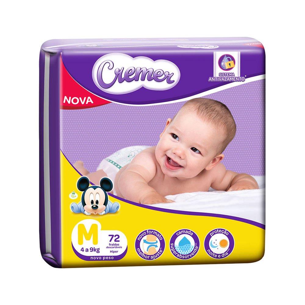 Fraldas Descartáveis Infantil tamanho M Disney Baby Magic Care Hiper 72 unidades Cremer pacote PCT