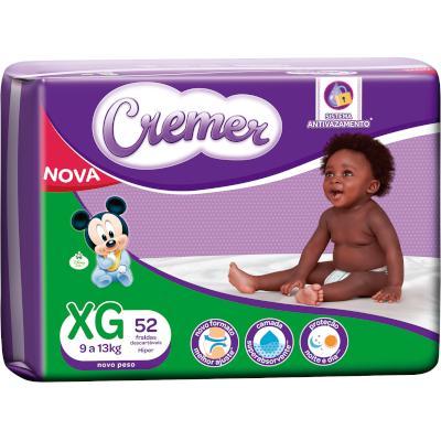 Fraldas Descartáveis Infantil tamanho XG Disney Baby Magic Care Hiper 52 unidades Cremer pacote PCT