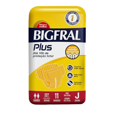 Fraldas Descartáveis Juvenil Plus 11 unidades Bigfral pacote PCT