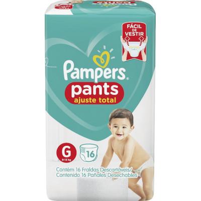 Fraldas Descartáveis Tamanho G Pants 16 unidades Pampers Confort Sec pacote PCT