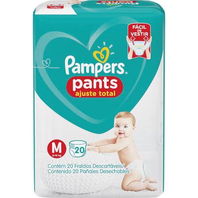 Fraldas Descartáveis tamanho M Pants 20 unidades Pampers Confort Sec pacote PCT