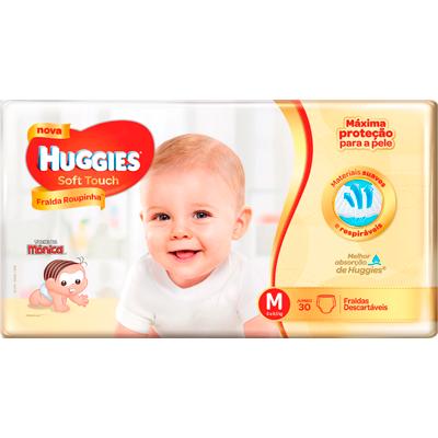 Fraldas Descartáveis tamanho M Soft Touch 30 unidades Huggies pacote PCT