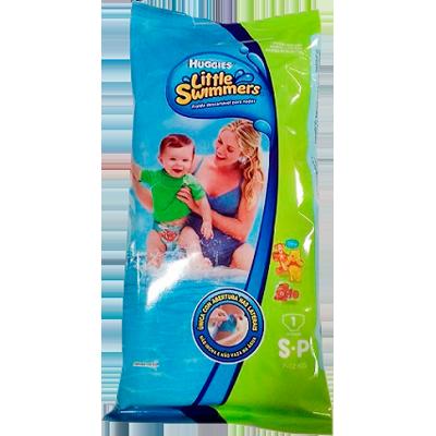 Fraldas Descartáveis tamanho P 12 unidades Huggies/Little Swimmers pacote PCT