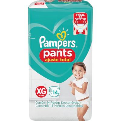 Fraldas Descartáveis tamanho XG Pants 14 unidades Pampers Confort Sec pacote PCT