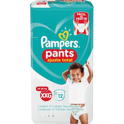 Fraldas Descartáveis tamanho XXG Pants 12 unidades Pampers Confort Sec pacote PCT