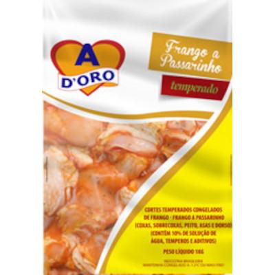 Frango a Passarinho Temperado Congelado 1kg Ad'oro pacote KG
