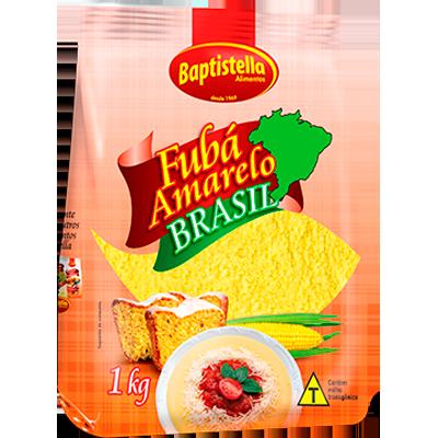 Fubá amarelo 1kg Brasil/Baptistella pacote PCT