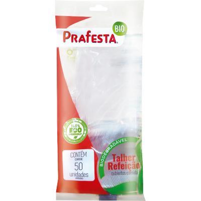 Garfo descartável sobremesa cristal 50 unidades Prafesta pacote PCT
