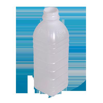 Garrafa plástica descartável laranja sem tampa 1Litro 100 unidades Maluger fardo UN