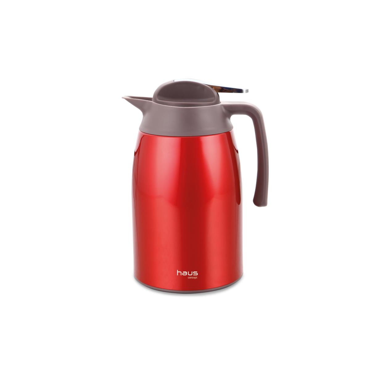 Garrafa Térmica Premium Curve Vermelho 1,6 Litros Haus Concept  UN