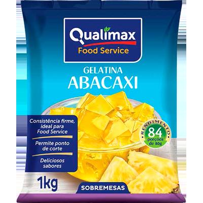 Gelatina sabor abacaxi 1kg Qualimax pacote PCT