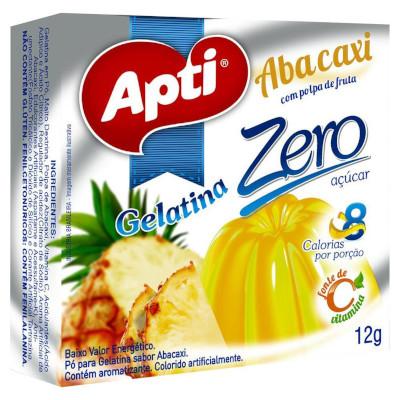 Gelatina sabor abacaxi zero 12g Apti  UN