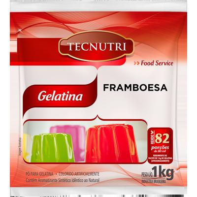 Gelatina sabor framboesa 1kg Tecnutri pacote PCT