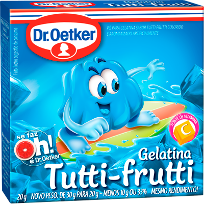 Gelatina sabor tutti frutti 20g Dr. Oetker  UN