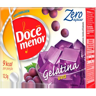 Gelatina sabor uva diet 12,5g Doce Menor  UN