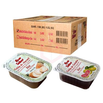 Geleia diet sabor Abacaxi e Goiaba unidades de 15g Bom Sabor blister UN