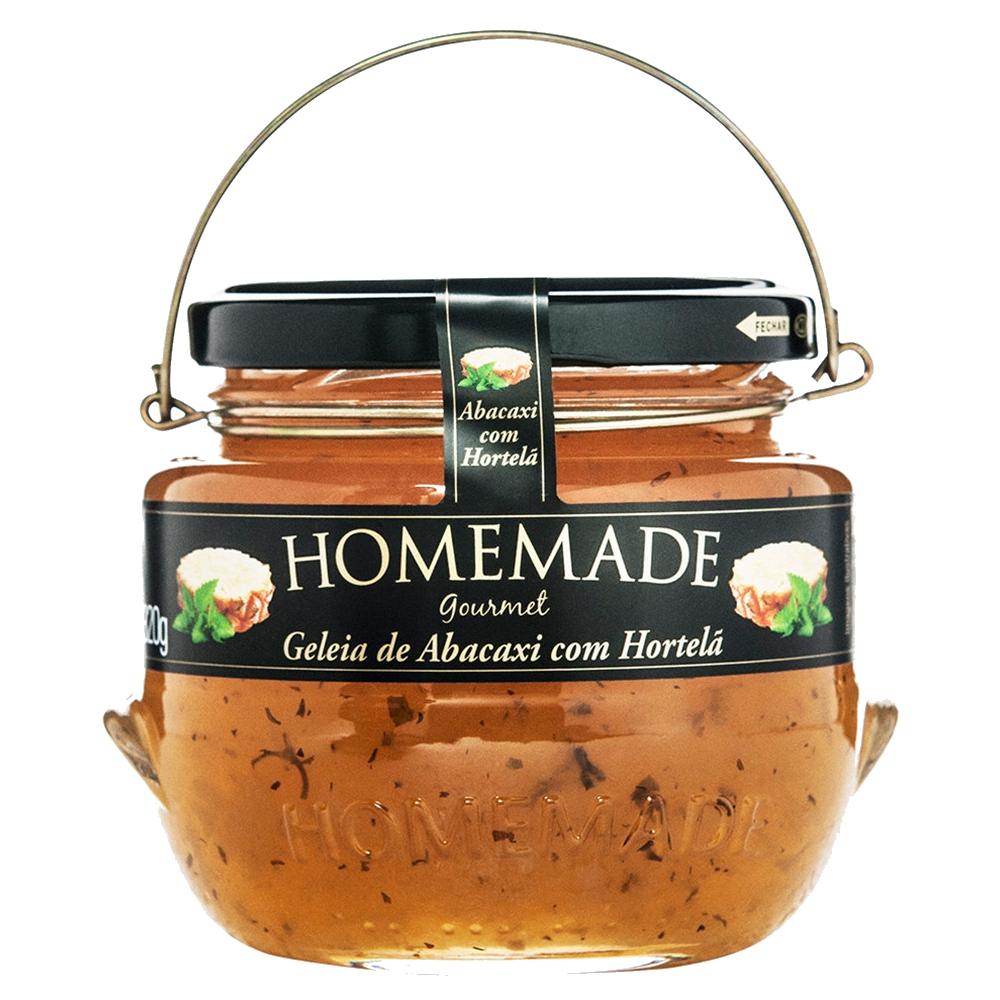 Geleia sabor Abacaxi com Hortelã 320g Homemade pote UN