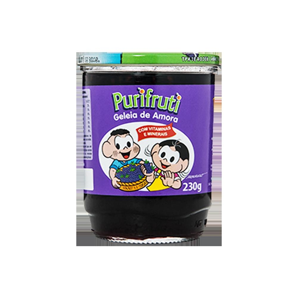 Geleia sabor Amora turma da mônica 230g Purifruti pote UN