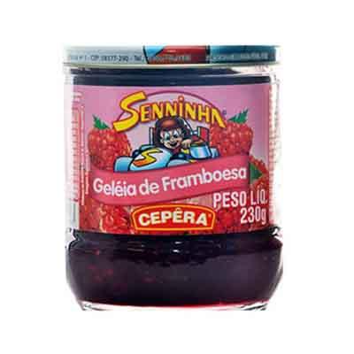 Geleia sabor Framboesa 230g Senninha/Cepêra pote UN