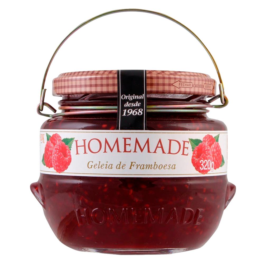 Geleia sabor Framboesa 320g Homemade pote UN